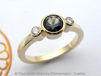 Bague Saphir Montana .51 ct et Diamants